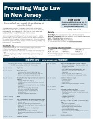 Prevailing Wage Law in New Jersey - Fox Rothschild LLP