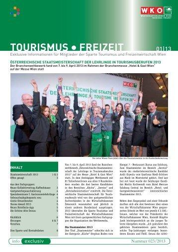 TOURISMUS FREIzEIT - Wirtschaftskammer Österreich