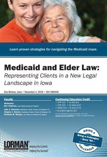 Medicaid and Elder Law: - Amazon Web Services