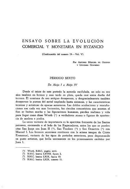 COMERCIAL Y MONETARIA EN BYZANCIO