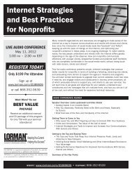 Internet Strategies and Best Practices for Nonprofits - Amazon Web ...