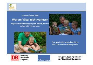 Warum Väter nicht vorlesen - Stiftung Lesen