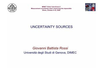 Giovanni Battista Rossi UNCERTAINTY SOURCES