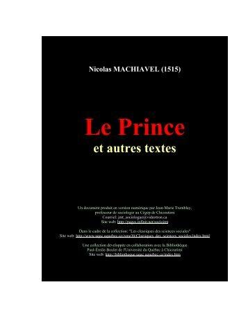 Le prince et autres textes (1515) - Fichier PDF