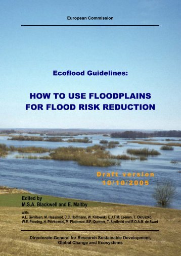 HOW TO USE FLOODPLAINS FOR FLOOD RISK ... - SGGW