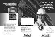 ¡Construya la mejor protección de manos - Ansell Healthcare Europe