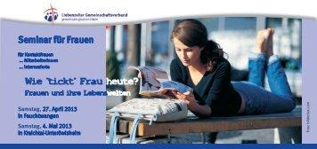 Seminar für Frauen - Liebenzeller Gemeinschaftsverband e.V.