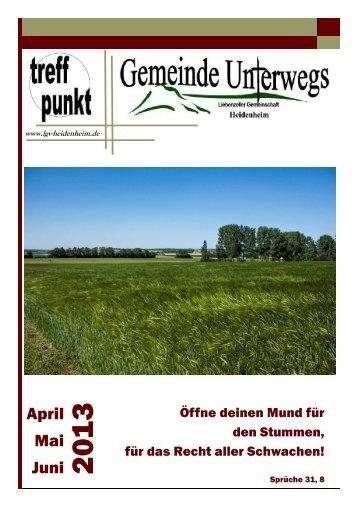 unser Info-Magazin - Gemeinde Unterwegs - Liebenzeller ...