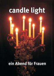 CandleLight Flyer A6 - Liebenzeller Gemeinschaft Köngen