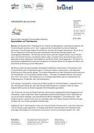 PRESSEINFO Brunel GmbH Spezialisten auf Talentsuche