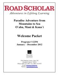 Welcome Packet - Pacific Islands Institute