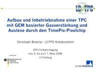 Aufbau und Inbetriebnahme einer TPC mit GEM basierter ... - LHC/ILC