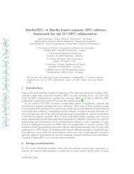 A Marlin based common TPC software framework for the ... - LHC/ILC