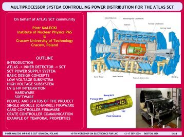 multiprocessor system controlling power distribution for the atlas sct ...