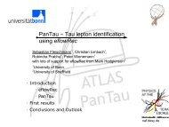 Tau-Lepton-Identifikation auf der Basis von ... - LHC/ILC
