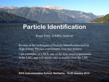 Particle Identification - Cern