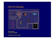 LHC ILC Interplay