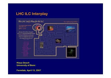 LHC ILC Interplay
