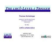 THE LHCbLEVEL-1 TRIGGER - LHCb - Cern