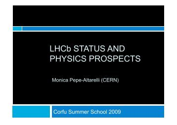 transparencies - LHCb - Cern