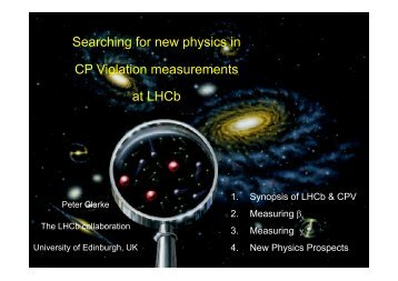 Searching for new physics in CP Violation measurements at LHCb