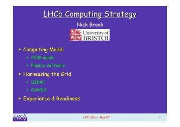 LHCb Computing Strategy - Cern