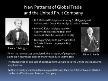 New Patterns of Global Trade and the United Fruit Company