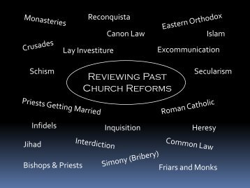 Lesson #23 The Reformation