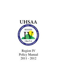 Region IV Handbook - Lehi High School - Alpine School District