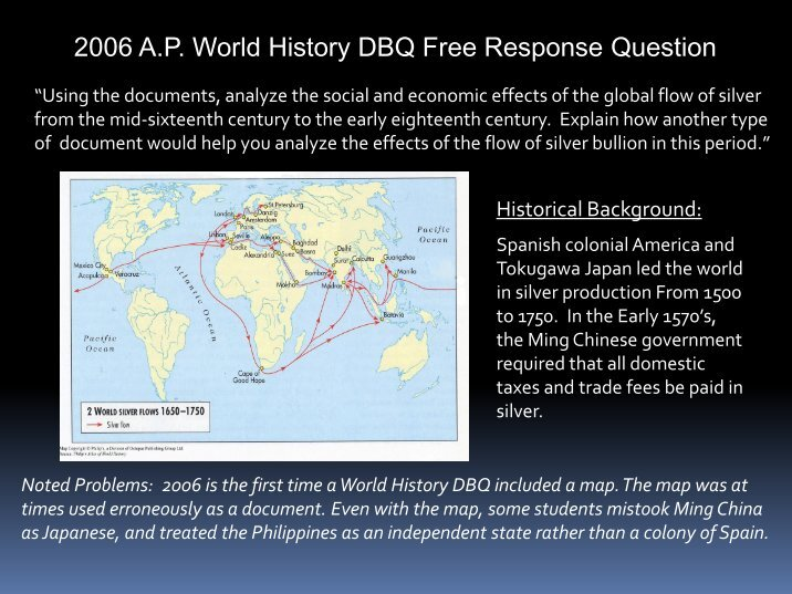 2003 ap world history dbq essay Score _____ of 9 (nine) points ap world history2003 documentbased question analyze the main features, including causes and consequence, of.