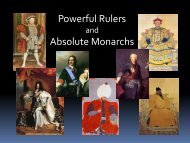 Powerful Rulers Absolute Monarchs - Loganville High School
