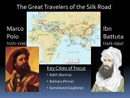 Travelers and Cities of the Silk Road