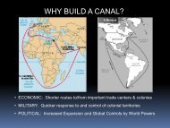 Suez and Panama Canals