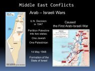 Lesson #62 Middle East Conflicts