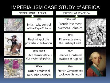 IMPERIALISM CASE STUDY of AFRICA