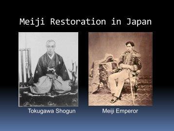 The Meiji Restoration