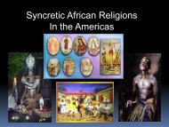Syncretic African Religions In the Americas