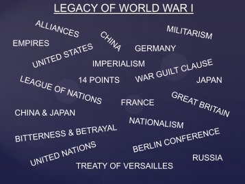 Lesson #43 MAINE Causes of WW1