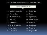 Lesson #8 Greece & Rome
