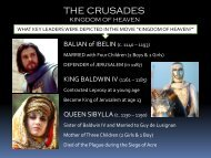 Lesson #18 The Crusades