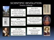Lesson #30 Scientific Revolution