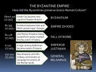 THE BYZANTINE EMPIRE - Loganville High School