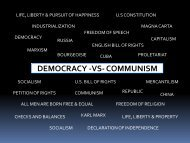 Lesson #56 Democracy vs Communism