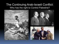 Partition of Palestine and the Arab-Israeli Conflicts