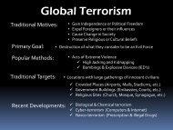 Lesson #63 Global Terrorism