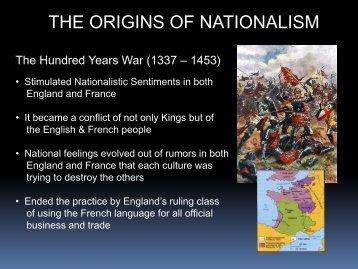 Defining Nationalism
