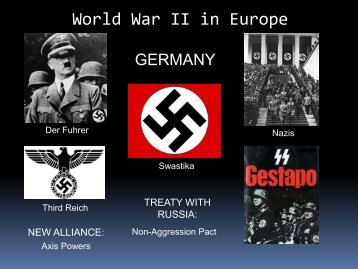 Lesson #51 WWII in Eurpe & the Pacific