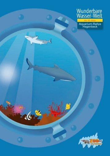 """""""Wunderbare Wasser-Welt""""-Aquarium Rallye ab 10 Jahre (Muster ..."""