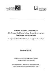 Family Literacy Ein Konzept der Elternarbeit zur Sprachförderung ...