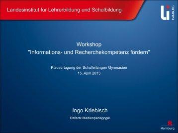 Präsentation als pdf - Landesinstitut für Lehrerbildung und ...